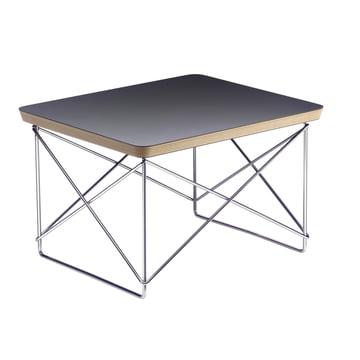 Eames Occasional Table LTR von Vitra in HPL Schwarz / chrom