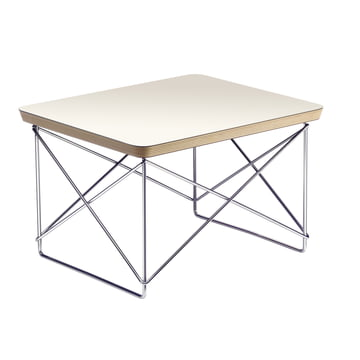 Eames Occasional Table LTR von Vitra in HPL Weiss / Chrom