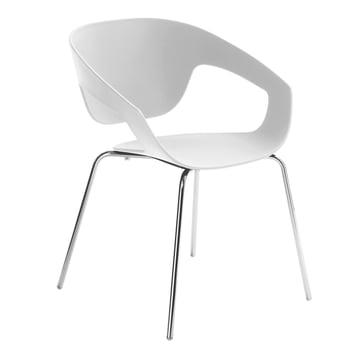 Casamania - Vad Stuhl in Weiss mit Vierbeingestell