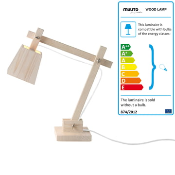 Muuto - Wood Lamp, Kabel weiss