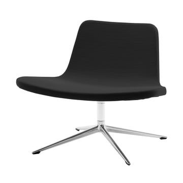 Hay - Ray Lounge Chair, Drehgestell, Stoff, schwarz
