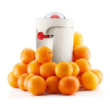 Bodum - Bistro elektrische Saftpresse mit Orangen
