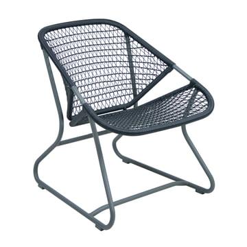 Sixties Sessel von Fermob in Gewittergrau