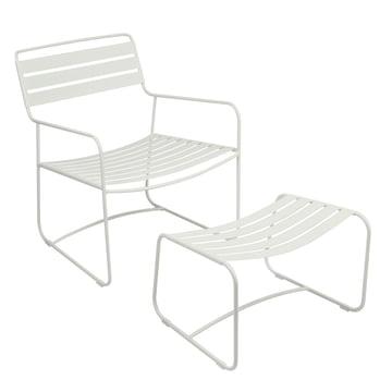 Surprising Lounger Sessel + Fußablage von Fermob in Baumwollweiß
