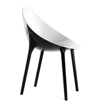 Kartell - Super Impossible Stuhl, weiss / schwarz