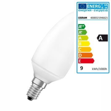 Osram Duluxstar Minicandle Energiesparlampe 7W/825 E14