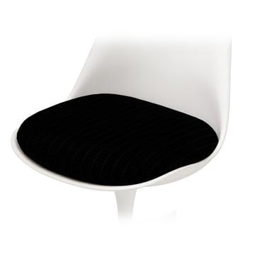 Sitzkissen für Knoll - Saarinen Tulip Stuhl - Hopsack, schwarz
