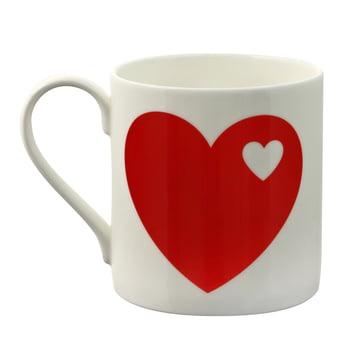 Becher Herzen von byGraziela in Rot
