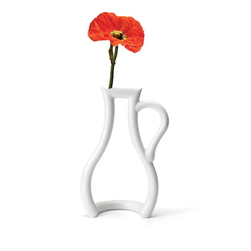 Weisse Konturen-Vase der MoMA Collection