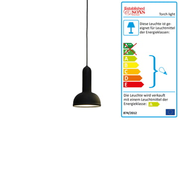 Established & Sons - Torch light Pendelleuchte rund schwarz