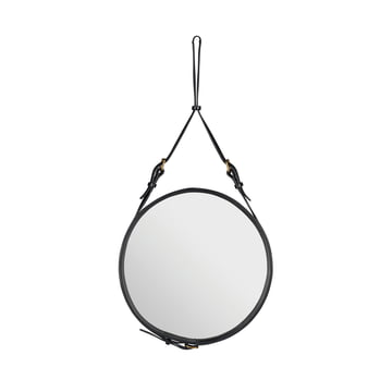 Adnet Spiegel Ø 45 cm von Gubi in Schwarz