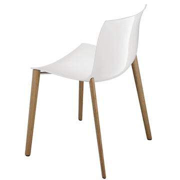 Arper - Catifa 53 Stuhl, Holzvierfussgestell, Polypropylen, weiss