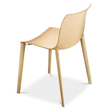 Arper - Catifa 53 Stuhl, Holzvierfussgestell