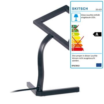 2D LED Tischleuchte von Skitsch in Schwarz