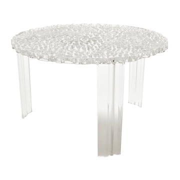 Kartell - T-Table, Höhe 28 cm, glasklar