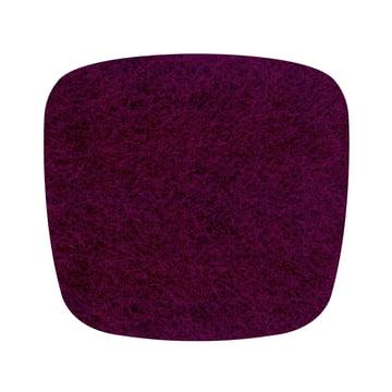 Hey Sign - Filz-Auflage Eames Plastic Armchair, aubergine 5mm