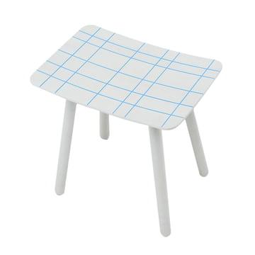 Karimoku - Colour Stool, blaues Netzmuster