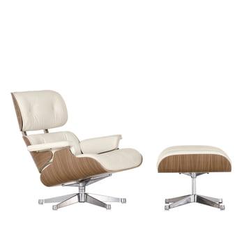 Vitra Eames Lounge Chair & Ottoman - Nussbaum weiss