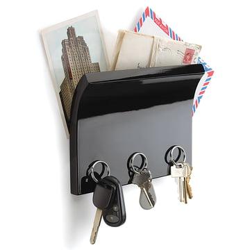 Umbra - Magnetter Schlüsselbrett, schwarz - mit Schlüsseln