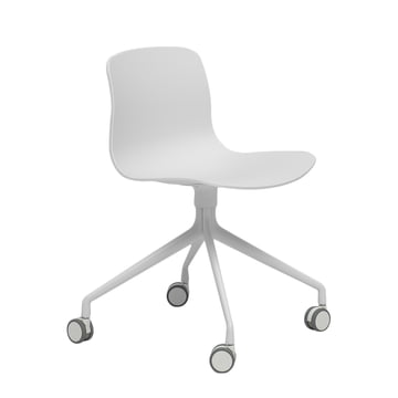 Hay - About A Chair AAC 14, Aluminium poliert weiss / weiss