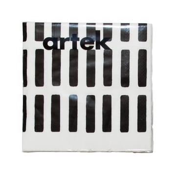 Artek - Siena Papierserviette, gross, weiss/ schwarz