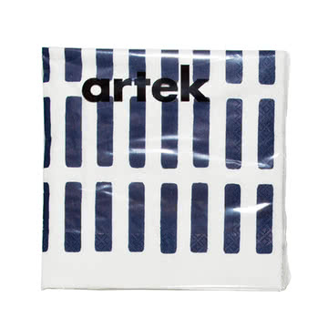 Artek - Siena Papierserviette, gross, weiss/ blau