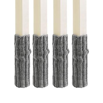 side by side - Socken (4er-Set) für Stuhlbeine, grau