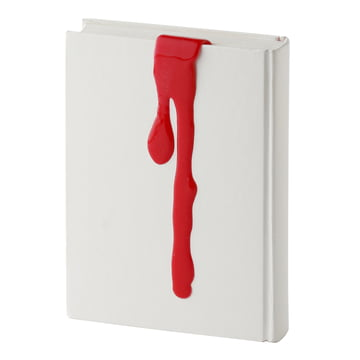 Kyouei Design - Liquid Bookmark, rot - mit Buch