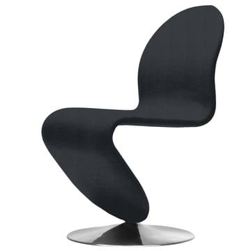 System 1-2-3 Dining Chair Standard von Verpan in Urban Plus Schwarz (Subway yn009)