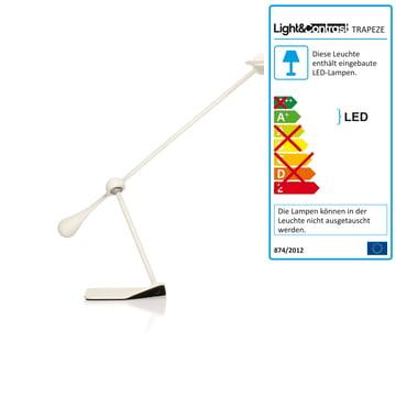 Klein & More - Trapeze LED Tischleuchte, klein weiss