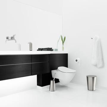 Stilvolles Bad mit Eva Solo WC-Bürste, Waste Bin, Seifenspender