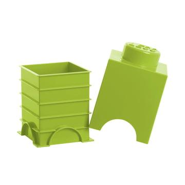 Lego - Storage Brick 1, limette - offen
