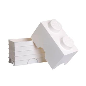 Lego - Storage Brick 2, weiss - offen