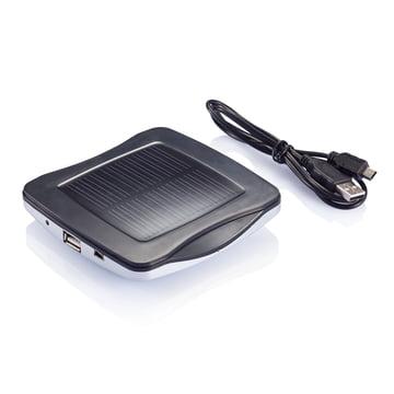 XD Design - Window Solar Charger, silber - Unterseite, Kabel