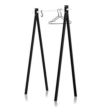Nomess - Dress-Up Garderobenständer, schwarz, weiss, 90 cm