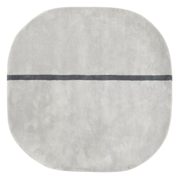 Normann Copenhagen - Oona Teppich, 140 x 140 cm, grau