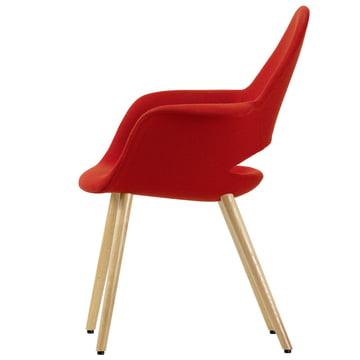 Organic Conference Stuhl von Vitra in rot / Eiche natur