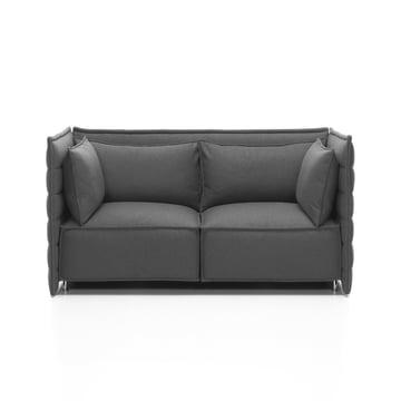 Vitra - Alcove Plume Sofa, dunkelgrau - 2-Sitzer