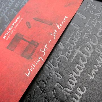 Moleskine - Schreib-Set - Detail, Oberfläche, Umschlag