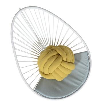 OK Design - The Acapulco Chair, weiss, Sitzkissen grau - oben