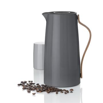 Stelton - Emma Kaffeeisolierkanne grau, Thermobecher