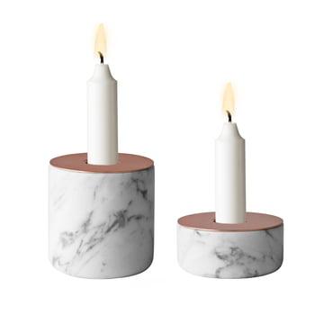 Menu - Chunk of Marble, beide Grüssen - mit Kerzen