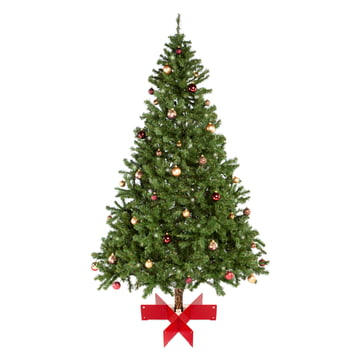 Keilbach - Halleluja Christbaumständer, rot - mit Tannenbaum