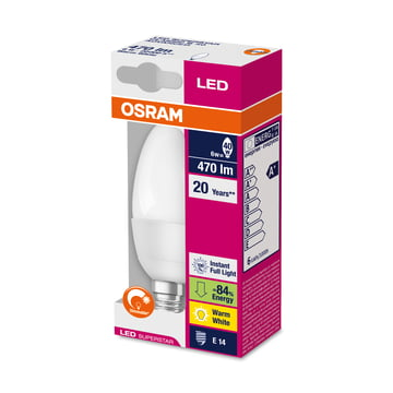 Osram - LED Supers Clas B 40 adv, E14, frosted - Verpackung
