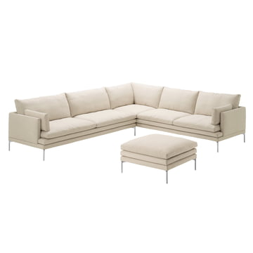 Zanotta - William Sofa, beige - Ecke und Hocker