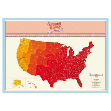 Luckies - Scratch Map USA - frei