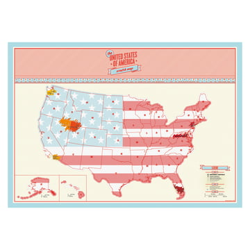 Luckies - Scratch Map USA, teilweise frei