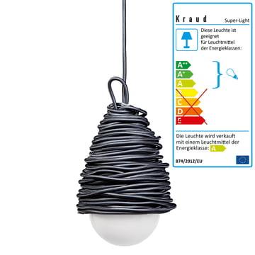 Kraud - Super-Light Classic Lampe, dunkelgrau
