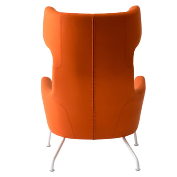 Softline - Havanna Ohrensessel, orange - hinten