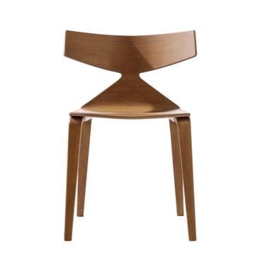 Arper - Saya Stuhl, wooden legs, teak